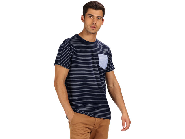 Regatta Teagan T-Shirt Homme, navy/white